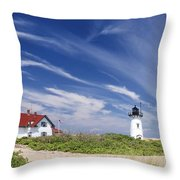 Race Point Light Throw Pillow by Bill Wakeley