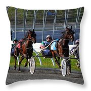 Race To The Finish Throw Pillow