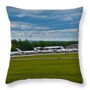 Race Week 2014 Pocono Airport  Throw Pillow