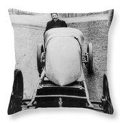 Racecar Driver, C1906 Throw Pillow