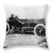 Racecar Drivers, C1913 Throw Pillow