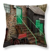 Racecourse Colliery  Throw Pillow by Adrian Evans