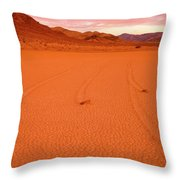 Racetrack Valley Death Valley National Park Throw Pillow