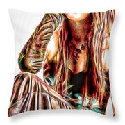 Rachael In Pensive Mood Throw Pillow