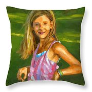 Rachel With Cookie Throw Pillow