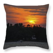 Racing Against The Sunset Throw Pillow