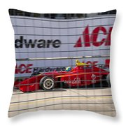 Racing At Reliant Throw Pillow