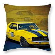 Racing Camaro Throw Pillow