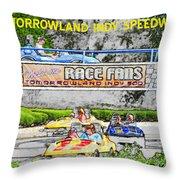 Racing Dreams Throw Pillow