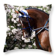 Racing Horse  Throw Pillow