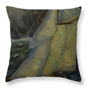 Racing The Storm Throw Pillow