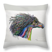 Racing The Wind ... A Story Painting Throw Pillow