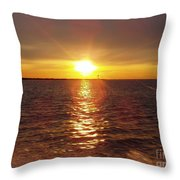 Racing To The Fish Before Sunrise Throw Pillow