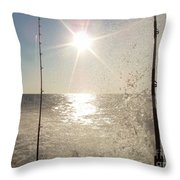 Racing To The Fishing Grounds Throw Pillow