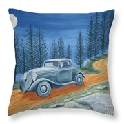 Racing Was Born In North Carolina Throw Pillow