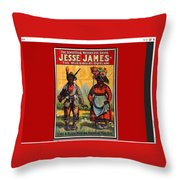 Racist Poster For Jesse James Theatrical Presentation No Location Or Date-2013  Throw Pillow