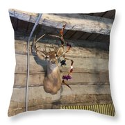 Rack On The Wall Throw Pillow