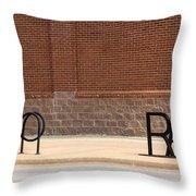 Rack Up In Okc Throw Pillow