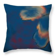 Radial Flowers Throw Pillow