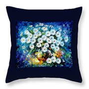 Radiance 2 - Palette Knife Oil Painting On Canvas By Leonid Afremov Throw Pillow