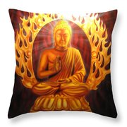 Radiant Buddha  Throw Pillow