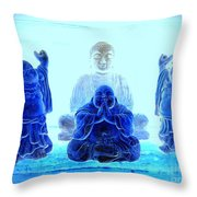 Radiant Buddhas Throw Pillow