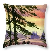 Radiant Coast Throw Pillow