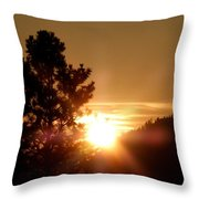 Radiant Glory Throw Pillow