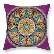 Radiant Health Mandala Throw Pillow