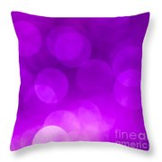 Radiant Orchid Bokeh Throw Pillow