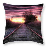 Radiant Orchid Throw Pillow