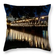 Radiant Reflections Throw Pillow
