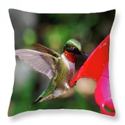 Radiant Ruby Throw Pillow
