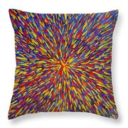 Radiation Blue Throw Pillow