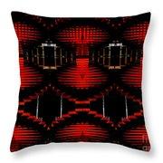 Radiation Dna Glow Throw Pillow