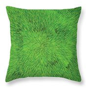 Radiation Green Throw Pillow