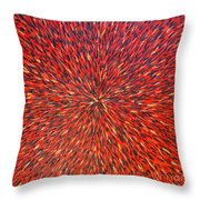Radiation Red  Throw Pillow