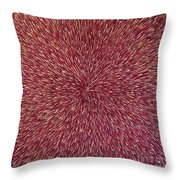Radiation With Brown Magenta And Violet  Throw Pillow