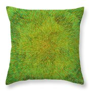 Radiation With Green Yellow And Orange  Throw Pillow