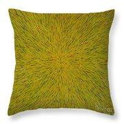 Radiation With Yellow Green And Red Throw Pillow