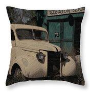 Radiator Shop Throw Pillow