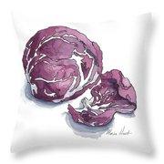Refined Radicchio  Throw Pillow