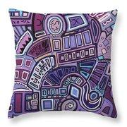 Radio Active Throw Pillow