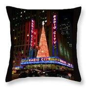 Radio City At Christmas Time - Holiday And Christmas Card Throw Pillow