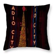 Radio City Christmas Throw Pillow