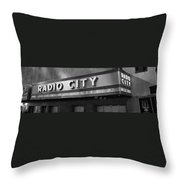Radio City In Black And White Throw Pillow
