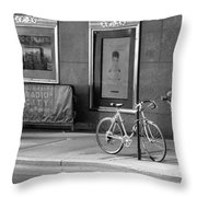 Radio City Music Hall In Black And White Throw Pillow
