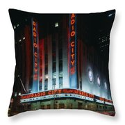 Radio City Music Hall In New York City Throw Pillow
