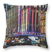 Radio City Music Hall New York City- 1 Throw Pillow