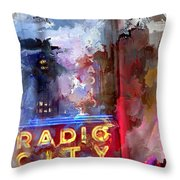 Radio City New York Throw Pillow